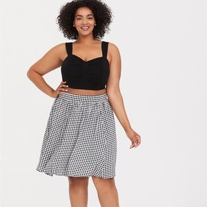 TORRID BLACK & WHITE GINGHAM CHALLIS 2-PIECE SET